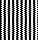 Zirytowany płynnie powtarzalny zygzakowaty wzór Abstrakcjonistyczny monochrom ilustracji