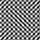 Zirytowany płynnie powtarzalny zygzakowaty wzór Abstrakcjonistyczny monochrom ilustracja wektor