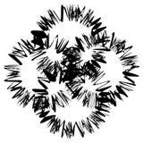 Zirytowany szorstki przecina monochromatyczny kształt odizolowywający na bielu Abst ilustracji