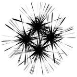 Zirytowany szorstki przecina monochromatyczny kształt odizolowywający na bielu Abst ilustracja wektor