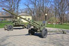 ZiS-2是在WWII期间使用的苏维埃57 mm反坦克枪 库存图片
