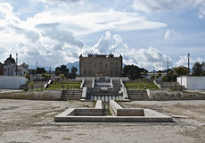 城堡巴勒莫西西里岛zisa 图库摄影