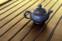 Zisha teapot on the desk Royalty Free Stock Photos