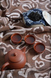Zisha teaset background Royalty Free Stock Images