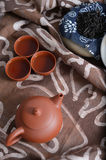 Zisha teaset background Royalty Free Stock Photos