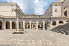 Zisterne im Kloster von Bramante, Benediktinerabtei von Montecassino Stockfotografie