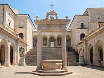 Zisterne im Kloster von Bramante, Benediktinerabtei von Montecassino Italien Stockfoto