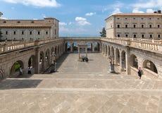 Zisterne im Kloster von Bramante, Benediktinerabtei von Montecassino Italien Lizenzfreie Stockfotografie