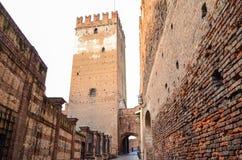 Zitadelle auf der Bank von die Etsch-Fluss, Verona, Italien Lizenzfreie Stockfotografie