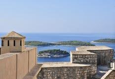Zitadelle auf der Insel von Hvar Stockfoto
