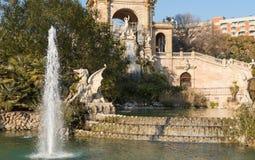 zitadelle Barcelona Tropische Landschaft Städtisch teich Park stockbild