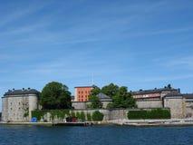 Zitadelle in Vaxholm Stockbild