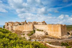 Zitadelle von Bonifacio, Corse, Frankreich stockbild