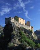 Zitadelle von Corte, Korsika Lizenzfreie Stockbilder