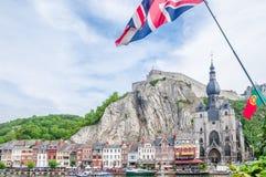 Zitadelle von Dinant in Belgien lizenzfreies stockbild