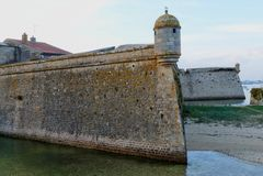 Zitadelle von Port Louis, Bretagne, Frankreich Lizenzfreies Stockbild