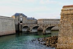 Zitadelle von Port Louis, Bretagne, Frankreich Stockbilder
