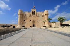 Zitadelle von Qaitbay in Ägypten lizenzfreie stockfotografie