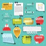 Zitat des Satzes 15 für Website in der linearen und flachen Art Stockfoto