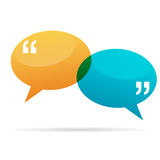 Zitat-Gesprächs-Blasen Stockbild
