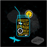 Zitat-Kartendesign des Vektors kreatives limonade Stockfoto