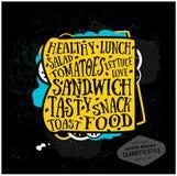Zitat-Kartendesign des Vektors kreatives sandwich Stockfotografie