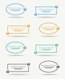 Zitat-Sprachefahne Stockbild