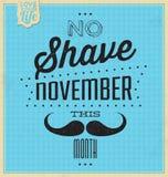 Zitat-typografischer Hintergrund/keine Rasur November Stockbilder