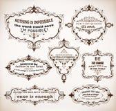 7 Zitate und Rahmen Lizenzfreies Stockbild