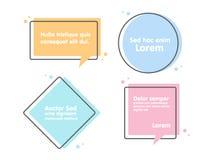 Zitattextblase Kommas, Anmerkung, Mitteilung und Kommentar Stockfotos
