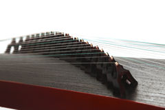 Zither,close-up. Zither,Chinese traditional music instrument Stock Image