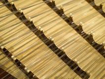 Zither,Gu Zheng. Strings and bridges of Chinese ancient instrument Gu Zheng Stock Photos