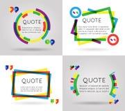 Zitieren Sie Informationstext-Bloggeschäftsmobile der Schablone das bunte, das auf weißer Hintergrundvektorillustration lokalisie Lizenzfreie Stockfotos