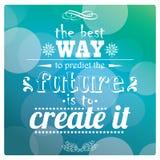 Zitieren Sie, inspirierend Plakat, typografisches Design, Vektor illust Stockfotos