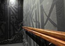 zitkamer loft Moderne stijl stock afbeelding