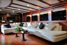 Zitkamer van zeilboot Royalty-vrije Stock Foto's