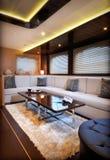 Zitkamer van zeilboot Royalty-vrije Stock Afbeelding