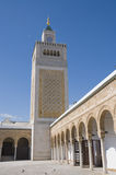 Zitouna mosque in the Medina of Tunis. Ancient mosque in the Medina of Tunis Royalty Free Stock Photo