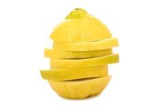 Zitrone auf Weiß Lizenzfreie Stockbilder