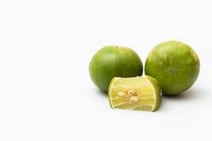 Zitrone auf weißem Hintergrund Lizenzfreies Stockbild