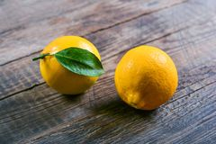 Zitrone, das beste natürliche Vitamin Lizenzfreies Stockbild