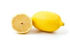 Zitrone. Ganzes und halbes Stockfotografie