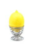 Zitrone gegen Ei Lizenzfreie Stockbilder