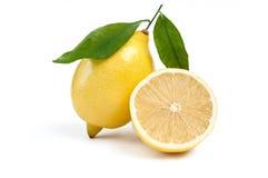 Zitrone getrennt Stockbild