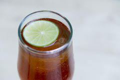 Zitrone-grüner Tee Stockfoto