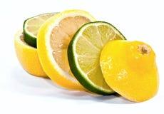 Zitrone-Kalk gemischt Stockbild