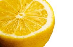 Zitrone-Makro Lizenzfreie Stockfotos