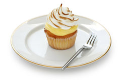 Zitrone-Meringe-kleiner Kuchen Stockbilder