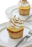 Zitrone-Meringe-kleiner Kuchen Lizenzfreie Stockfotos