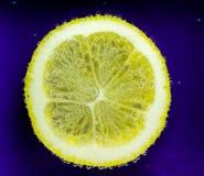 Zitrone mit Blasen Stockfotografie